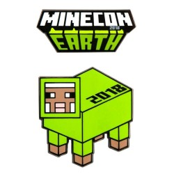 Minecraft Minecon Earth Exclusive Enamel Pin Set