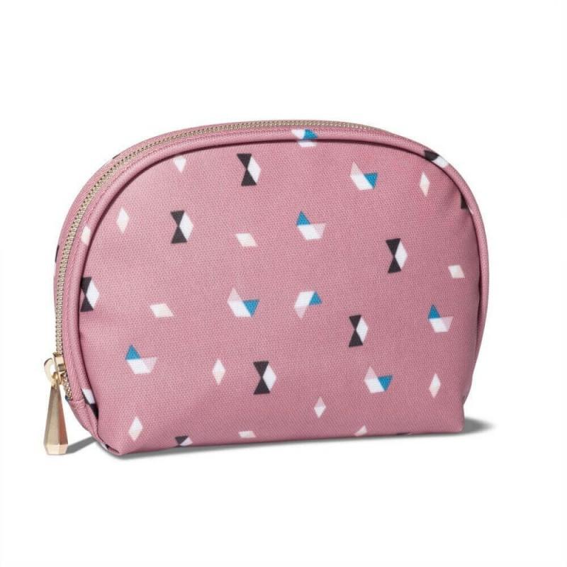 Sonia Kashuk Round Top Pink Cat Makeup Cosmetic Bag