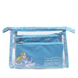 Disney Alice In Wonderland Makeup Cosmetic Bag Set