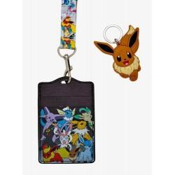 Pokemon Eevee Evolution Lanyard Keychain