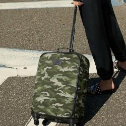 Victoria's Secret PINK Green Camo Rolling Wheelie Luggage