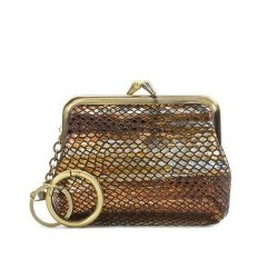 Patricia Nash Borse Coin Purse - Metallic Snake Gold