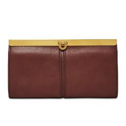 Fossil Women Kayla Henna Leather Clutch Wallet