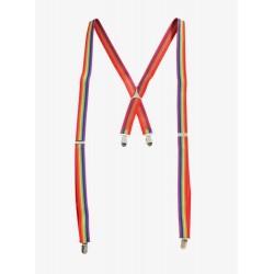 Rainbow Pride Clip-on Suspenders