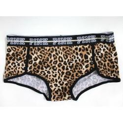 Victoria's Secret Leopard Lurex Shine Boyshort Panty Size L