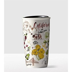Starbucks 2016 California the Golden State Ceramic Mug Tumbler 10 Fl Oz