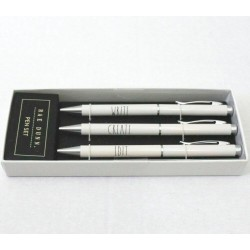 Rae Dunn 3 Piece WRITE CRATE EDIT Pen Set