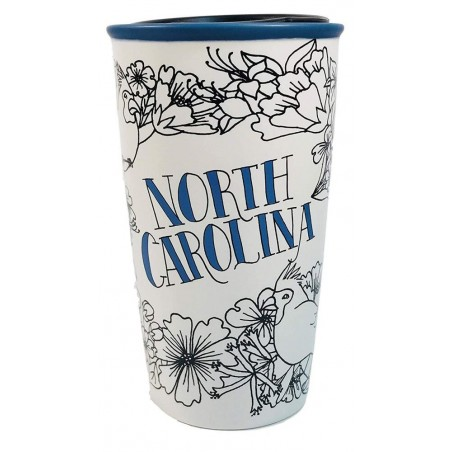Starbucks North Carolina Double Wall Traveler Ceramic Tumbler 12 Fl Oz