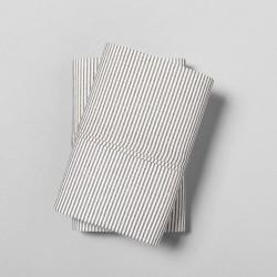 Hearth & Hand with Magnolia Organic Microstripe Gray King Pillowcase Set of 2