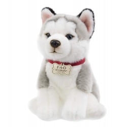 FAO Schwarz Flupply Husky Puppy Plush Stuffed Animal 10 Inches