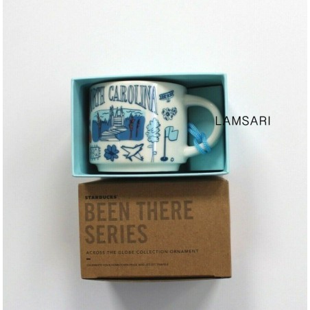 Starbucks North Carolina Demitasse Mug Ornament Been There Series