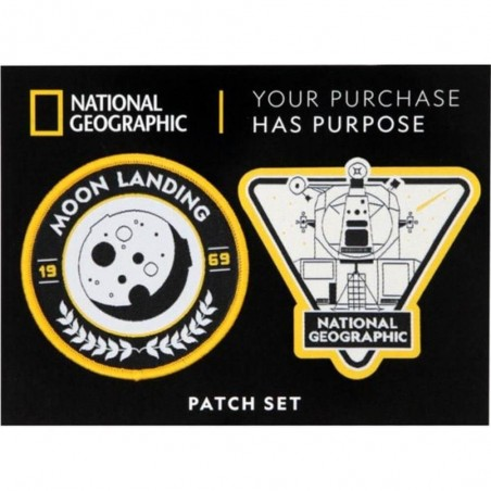 National Geographic Moon Landing Patch Set