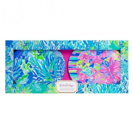 Lilly Pulitzer Appetizer Plate Set in Wade and Sea