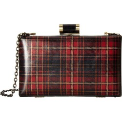 Patricia Nash Alora Frame Plaid Tartan Leather Crossbody Clutch Bag