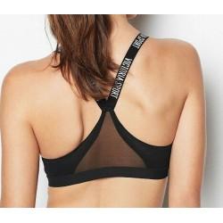 Victoria's Secret Sport the Incredible Mesh Black Racerback Bra Size 36C
