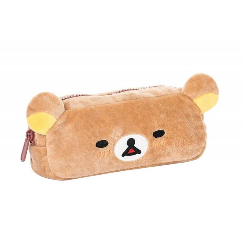Rilakkuma Face Soft Pencil Case Pouch Bag Plush