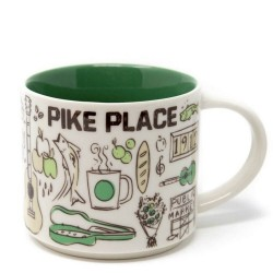 Starbucks Seattle Pike Place Ceramic Mug Been There Series 14 Fl Oz