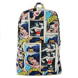 Loungefly DC Comics Wonder Woman Comic Print Backpack