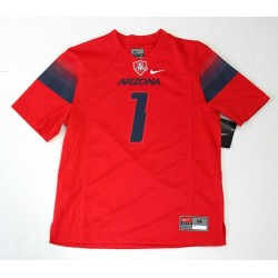 NIKE Boys Arizona Wildcats No 1 Red Football Jersey Shirt Size M