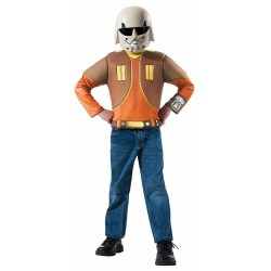 Ezra Bridger Muscle Chest Shirt Set Costume for Kids
