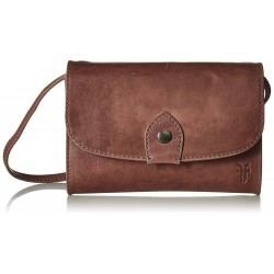 Frye Melissa Crossbody Leather Lilac Clutch Bag