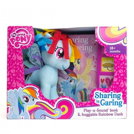 My Little Pony Sharing Is Caring Board Book & Rainbow Dash Toy