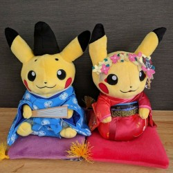 Pikachu Court Noble and Maiko Pokemon Plush Set - 8 Inches