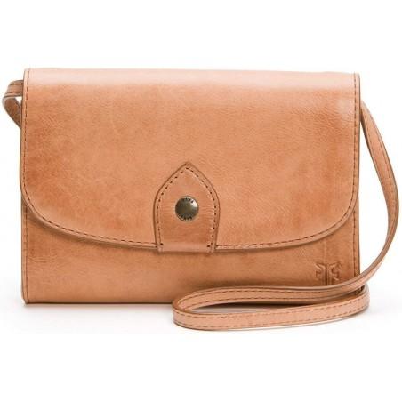 Frye Melissa Crossbody Leather Dusty Rose Tan Clutch Bag