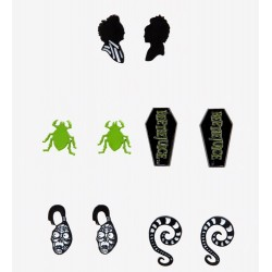 Beetlejuice Beetle Coffin Earring Set