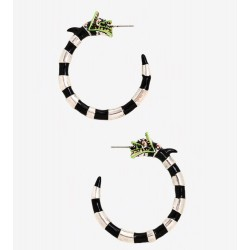 Beetlejuice Sandworm Hoop Earrings