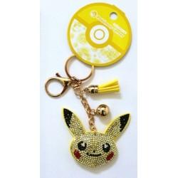 Pokemon Pickachu Bling Tassel Bag Charm Keychain