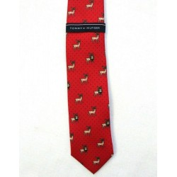 Tommy Hilfiger men Reindeer Red Neck Tie