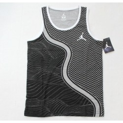Nike Boys Jordan Jumpman Black Gray Geometric Tank Tee