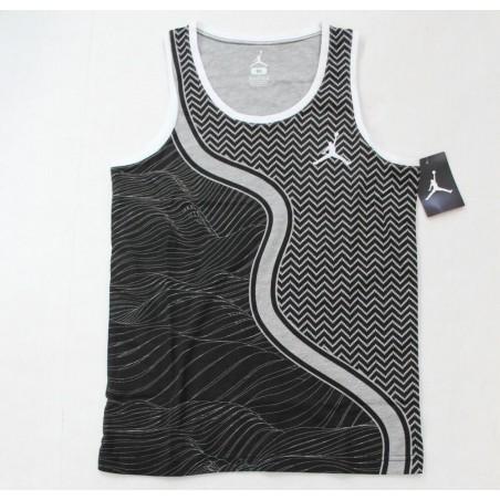 Nike Boys Jordan Jumpman Black Gray Geometric Tank Tee