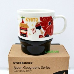 Starbucks Japan Geography Series Kyoto City Ceramic Mug Cup 12 Fl Oz