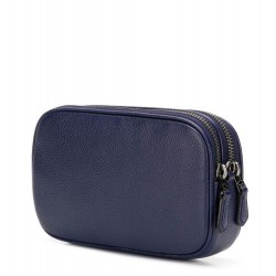 Coach Sadie Crossbody Blue Leather Clutch with Border Rivets