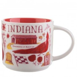 Starbucks Indiana the Hoosier State Ceramic Mug Been There Series 14 Fl Oz