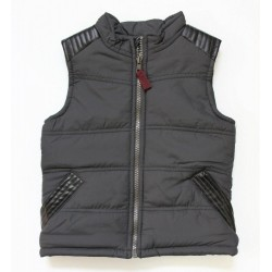 Genuine Kids from Oshkosh Boys Full Zip Charcoal Puffer Vest Size 4T