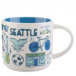 Starbucks Seattle City Ceramic Mug Been There Series 14 Fl Oz