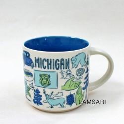 Starbucks Michigan Ceramic Mug Been There Series 14 Fl Oz
