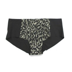 Victoria's Secret PINK Leopard Camo Seamless Raw Cut No Show Hipster Panty Size M