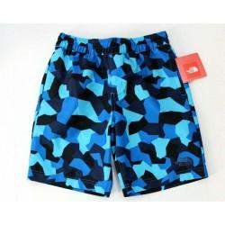 The North Face Boys Morphious Camo Blue Shorts Size XL