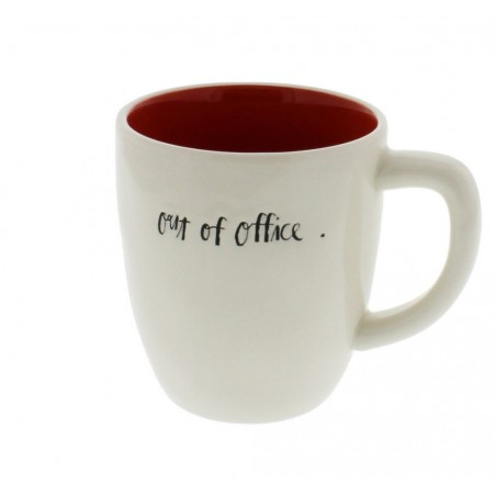Rae Dunn Magenta (scripted) OUT OF OFFICE Mug
