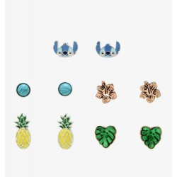 Disney Lilo and Stitch Tropical Earring Set of 5 Pairs