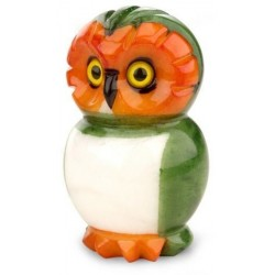 Gufo Piccolo Green Italian Alabaster Stone 4-inch Owl Paperweight