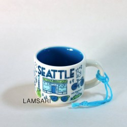 Starbucks Seattle Demi Mug Ornament Been There Series 2 Fl Oz