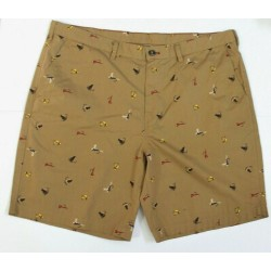 Eddie Bauer Men Saddie Brown Camano Coton Shorts Size 40