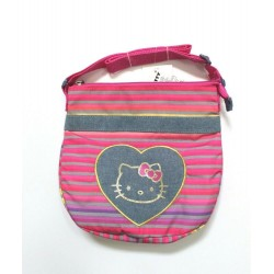 Hello Kitty Pink Stripe Glitter Crossbody Bag