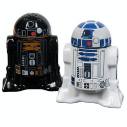 Star Wars R2-D2 and R2-Q5 Droids Ceramic Salt Pepper Shakers