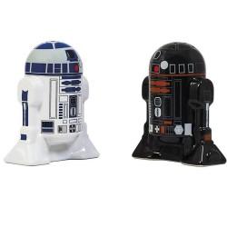 Star Wars R2-D2 and R2-Q5 Droids Ceramic Salt Pepper Shakers